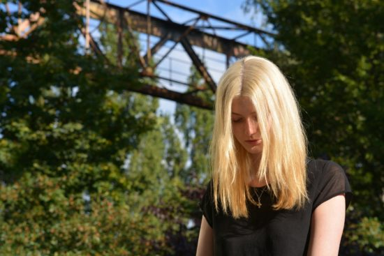 Shy blonde