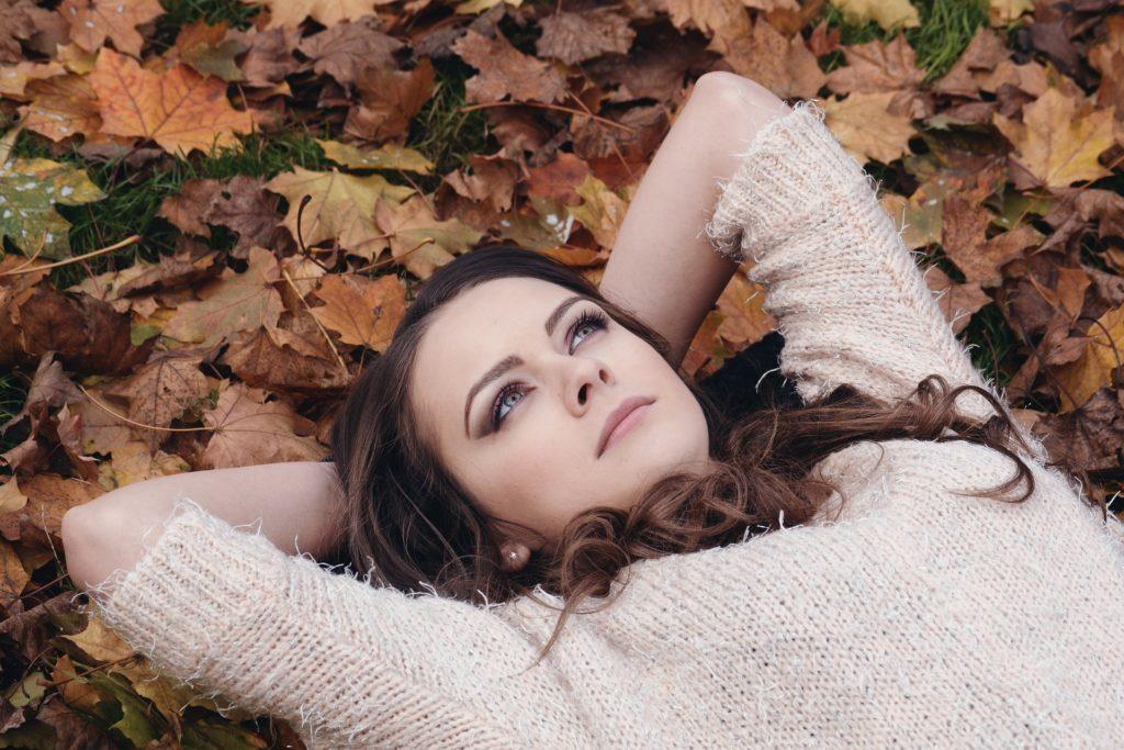 lady lying down