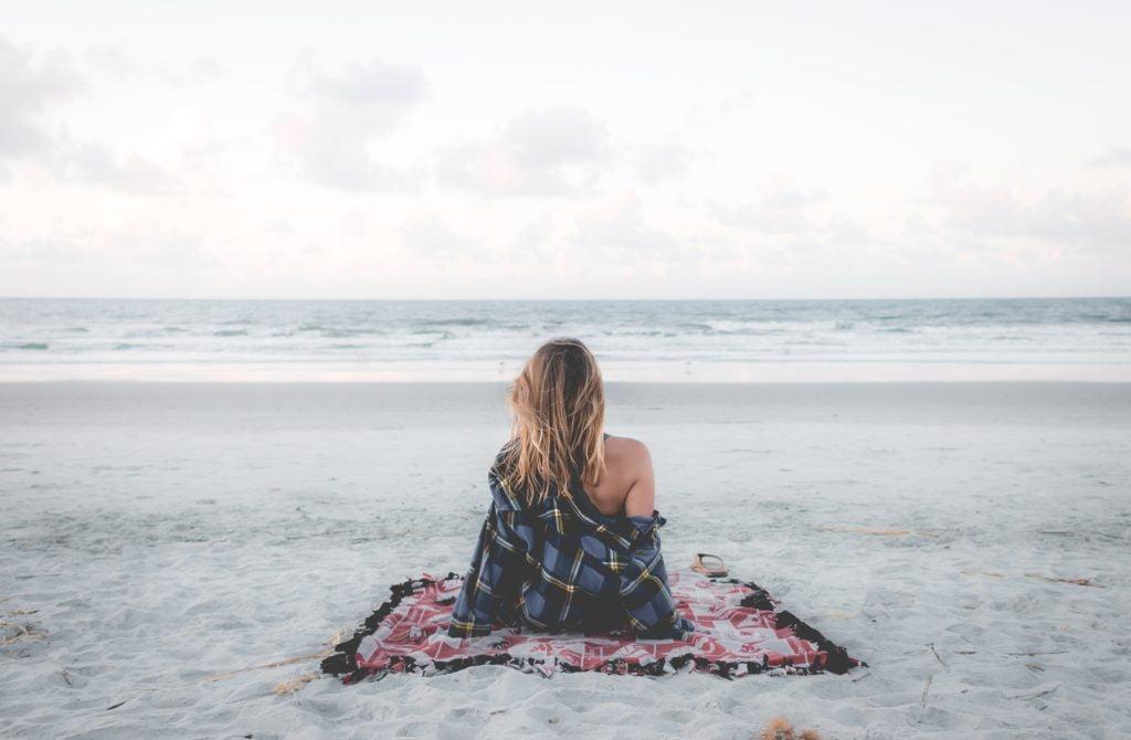 Waiting on the beach