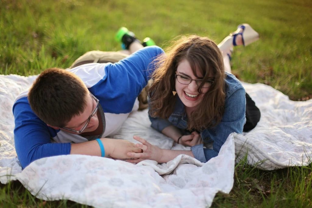Teasing girlfriend