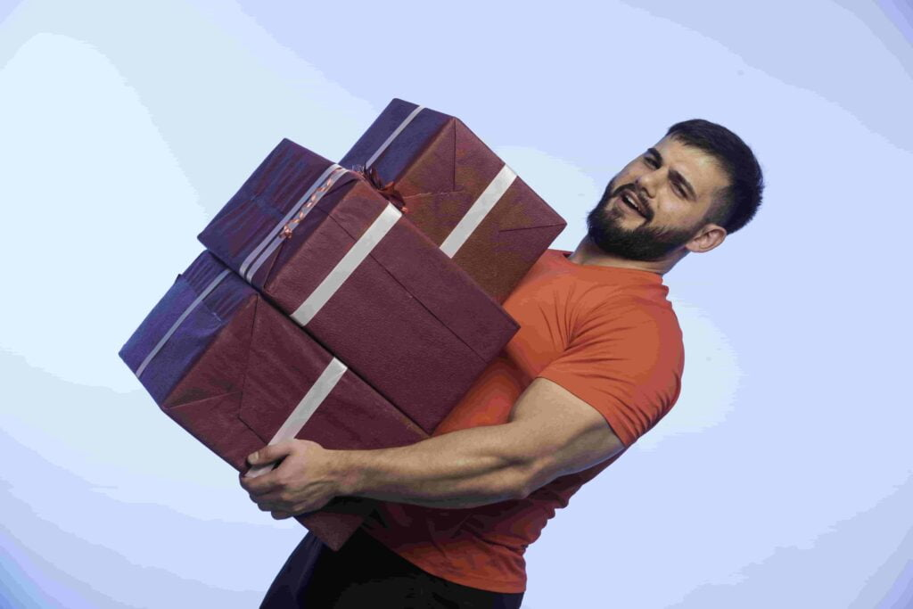 Man carrying heavy load